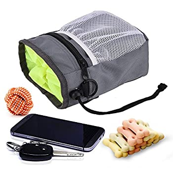 Sac de friandises pour chien/pochette avec gratuit d'entraînement Clicker et pliable de voyage Bol de nourriture de l'eau pour animal domestique