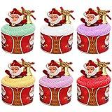BESTOYARD Cupcake navideño Toalla Centro de Mesa de Navidad niños con Papá ...