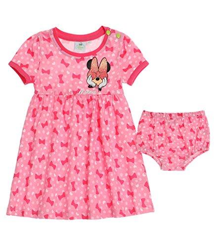 Disney minnie babies vestito & slip - fucsia - 24m