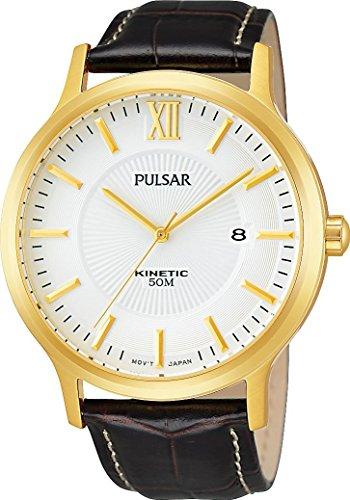 Pulsar Herren-Armbanduhr Analog Quarz Leder PAR182X1