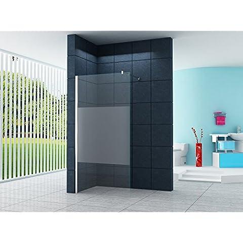 10 millimetri Cabina doccia Dusseldorf Cover 90 x 200 cm vetro trasparente con striscia / Walk-In Cabina doccia doccia parete doccia da parete divisoria