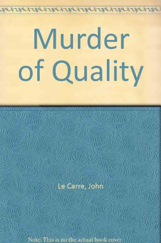 Murder of Quality for sale  Delivered anywhere in UK