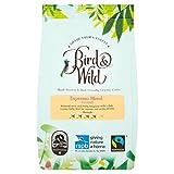 Miscela espresso della Casa di caffè Bird & Wild, equo-solidale, Bio biologico, con coltivazione all'ombra e a tutela degli uccelli, caffè macinato, peso netto 200 g