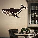 Relovsk Adesivi murali Oggettistica per la casa Balena di mare vinile adesivo decalcomania animale home decor soggiorno camera da letto adesivi murali rimovibili fai da te arte murale carta da pa