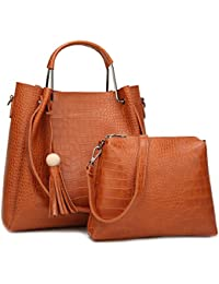 Trendy & Designer Crocodile Pattern Luxury Handbag Italian Design Handbag For Women & Girls (Set Of 2) Combo