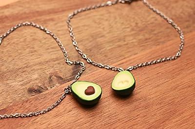 Bracelet d'amitié Avocado - bijoux de fruits - bijoux amis - bracelet valentine - bijoux alimentaires miniatures - bijoux BFF, cadeau valentine