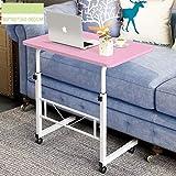 WETERS Sofa Beistelltisch tragbaren Laptop-Schreibtisch Schreibtisch können Mobile Schreiben faul Tisch Heben,pink