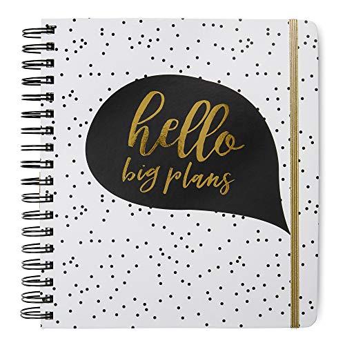 2020 Hello Big Plans, 12 Monate Tagesplaner/Kalender: Tri-Coastal Design Planer mit Monats-, Wochen- und Tagesansicht, persönliches Planer-Notizbuch für Arbeit oder Zuhause
