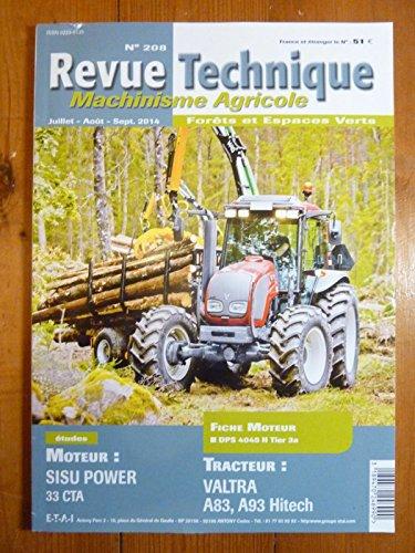 REVUE TECHNIQUE TRACTEUR AGRICOLE ET MACHINISME VALTRA Série A3