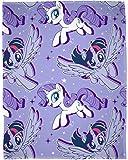 MY LITTLE PONY MOVIE My Little Pony Film 'Adventure' Fleece Decke–Großer Print Design, mehrfarbig