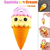 Squishy Toy, Kingwo Cute Ice Cream Slow Rising Scented Jumbo Squeeze Decompression Toys, Great Gifts for Kids Adults (B)
