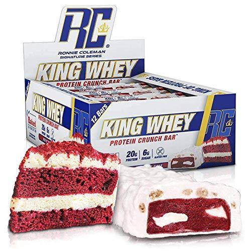 RCSS King Whey Protein Bar Eiweißriegel Proteinriegel Eiweiß Protein 20g Protein pro Riegel 12x57g (Red Velvet Cake)...