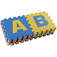 RBWTOYS Alphabet Puzzles Foam Mat A to Z Letters Multi Colors for kids Activity rbwtoy18801. Play Mats 26pcs Each size 30x30cm.