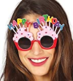 Fancy Me Damen Neuheit Pink Cupcake Happy Birthday Feier Party Getönt Brillen Kostüm Verkleidung Zubehör