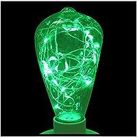 TOOGOO(R) Estrellas de Edison LED ST64 Bombillas RGB 85-265V E27 KTV Luces decorativas de exterior Tubos: Verde