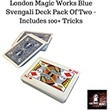 London Magic Works Blue Svengali Deck Pack Of Two (Bicycle Back) Includes Over 100 Tricks - Two Decks That Are Sure To Amaze Your Audience