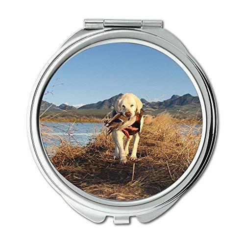 Yanteng Spiegel, Reisespiegel, Shih Tzu Hund, Taschenspiegel, 1 X 2X Vergrößerung -