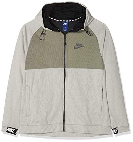 Nike Herren Advance 15 Kapuzen-Jacke, Beige (Light Bone/Black/Dar), S, 861742 (Beige Bone)