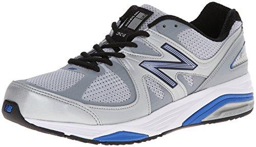 New Balance Men's M1540V2 Optimum Control Running Shoe, Black, 10 2E US Silver/Blue