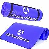 Esterilla para fitness »Amisha« / EXTRA gruesa y suave, perfecta para pilates, gimnasia y yoga / Medidas: 183 x 61 x 1,2cm / azul oscuro
