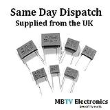 2x 0.15uF 275VAC 150nF r.46MKP X2SH Sicherheit Kondensatoren 40/110/56–Pack von 2