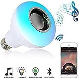 Musik Licht bulb- LED-Leuchtmittel mit Bluetooth-Lautsprecher RGB Lampe E27 Audio Lautsprecher mit Fernbedienung für Home, Bühne, Party Dekoration (Colorful)