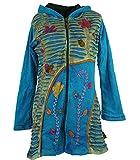 Guru-Shop Goa Patchwork Jacke, Damen, Blau, Baumwolle, Size:S/M (38), Boho Jacken, Westen Alternative Bekleidung