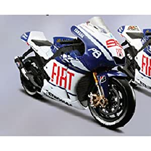Yamaha YZR-M1 (Valentino Rossi No 46 MotoGP 2010) in Blue and White (1:10 scale) Diecast Model Motorbike