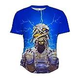 Iron Maiden Camiseta Hombres Populares Que Imprimen Camisetas Camiseta de Manga Corta Cuello Redondo Camiseta Blusa Camiseta de Verano Blusa (Color : A03, Size : XXL)