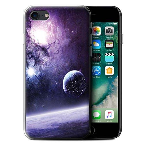 Offiziell Chris Cold Hülle / Gel TPU Case für Apple iPhone 7 / Chaos Entfesselt Muster / Fremden Welt Kosmos Kollektion Planet/Mond