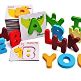 hibote Wooden Alphabet Puzzle Board, Wooden ABC Toddler - Best Reviews Guide