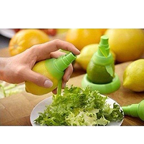 MMRM Hand Halten Zitrone Pressung Sprüh Entsafter Fruchtsaft Sprüher Vernebler – Grün - 4