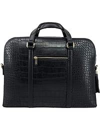 e1184c1b22f6b PACO TORA Aktentasche PU-Leder Laptoptasche Große Handtasche Damen  Alligator Muster Geprägte Umhängetasches…