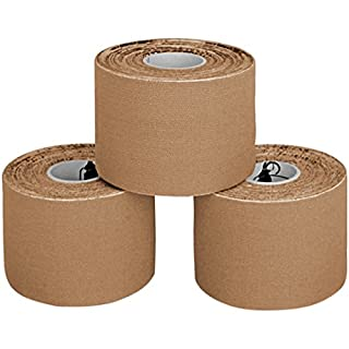ALPIDEX Kinesiology Tape 5 m x 5 cm in, Colour:skin-coloured, Quantity:3 rolls