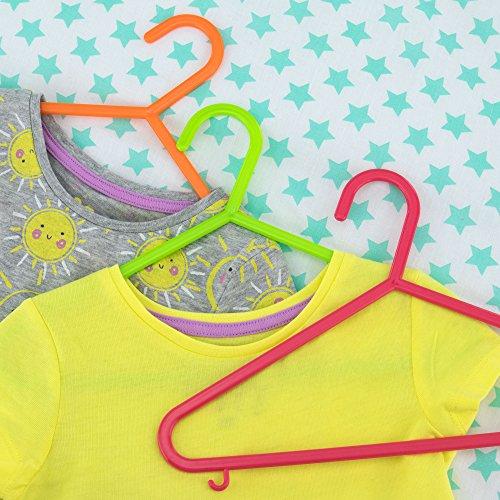 comprare on line Hangerworld, Set di grucce appendiabiti in plastica per bambini, 29 cm, Multicolore, 40 pz.