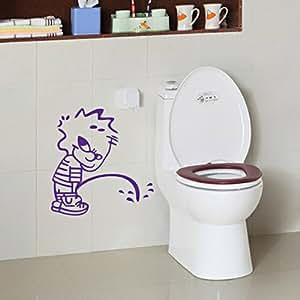 Foxnovo dr le naughty boy style imperm able bricolage wc si ge sticker salle de bain fen tre mur for Taille fenetre wc