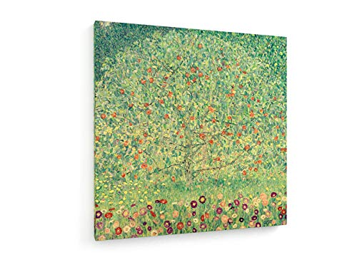 Gustav Klimt - Appletree I - Ca. 1912-80x80 cm - Leinwandbild auf Keilrahmen - Wand-Bild - Kunst, Gemälde, Foto, Bild auf Leinwand - Alte Meister/Museum -