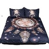 CHAOSE Bettwäsche Set,Superweiche Polyester-Baumwolle,3-teilig (1 Bettbezug + 2 Kissenbezüge 48x74cm) (Die Freiheit der Sterne Windspiele, King Size(220x240CM 2M Breites Bett))