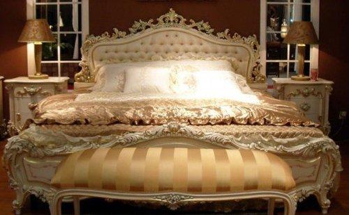LouisXV Vp7712S - Letto matrimoniale stile barocco, 120 x 190 cm ...
