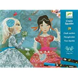 Djeco Ribbon & Lace Art by Numbers Chalk Markers Kit