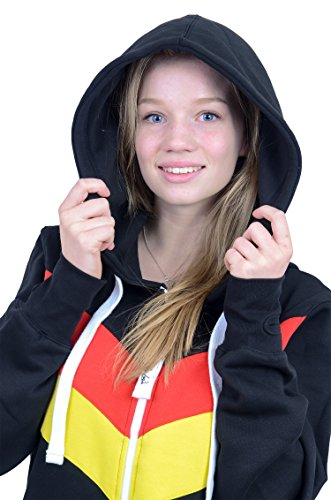 The Classic Unisex Onesie in Black and Red Yellow Stripes - L - 3