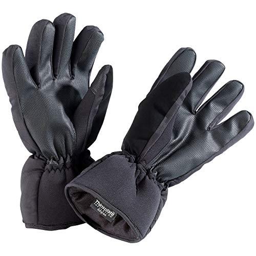 Wärmende Fäustlinge (Monsterzeug Winterhandschuhe mit Beheizung, Thermo Handschuhe, Beheizbare Fäustlinge, Wärmende Kleidung, Winterkleidung, Größe L, schwarz)