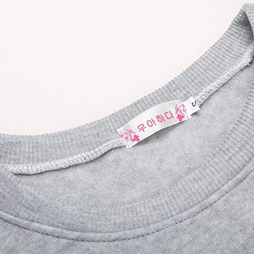 SOTEER King Und Queen Pullover Pärchen Casual Sweatshirts Pullis Damen Und Herren Valentine Gift Hoodies mit Aufdruck Typ2: Queen