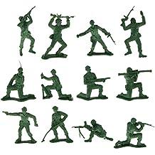 12pcs Set de Plástico Figuras de Soldados de La Decoración de Simulación de Juguetes Para Niños