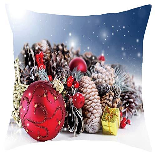 Myspace 2019 Dekoration für Christmas Frohe Weihnachten kurze Plüsch Kissenbezug Sofa Pad Set Home Decoration 18 x 18 Zoll