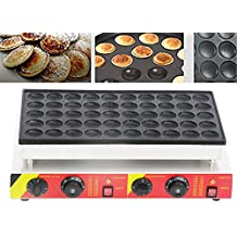 Comercial 50pcs automático Poffertjes parrilla holandés Mini tortitas Waffle Panificadora 110 ...