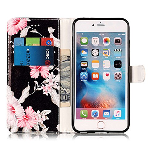 Custodia Cover Per iPhone 6 / 6S, iPhone 6 Cover a libro, iPhone 6S Custodia a Portafoglio, Surakey Vintage Shock Assorbimento Paraurti iPhone 6S Cover in Pelle Protettiva Flip Portafoglio Custodia Co Azalee