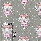 Tela de algodón 100% para niños, por metros, artesanía, costura, diseño de animales, 100 x 160 cm, 1 metro Fee Grau Sterne