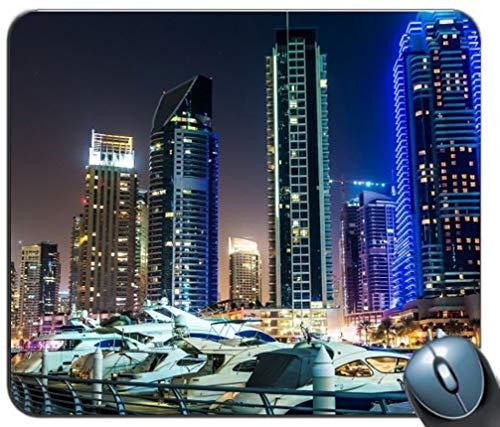 - Gemeinsame Gaming Mouse Pad, Dubai Küstenlandschaft Maßgeschneiderte rechteckige Rutschfesten Gummi - Mousepad Gaming Mouse Pad