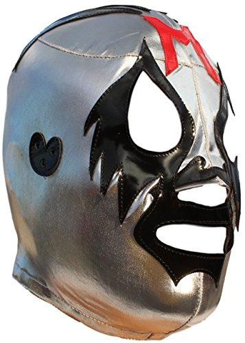 Mil Máscaras High Quality Lycra Lucha Libre Luchador Mask Adult Size Silver (Mascaras Santo Del)